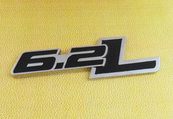 Auto Car chrome Black 6.2 L 6.2L for Camaro Hood Fender Emblem Badge Sticker 2 pcs auto chrome 45th anniversary for 2012 camaro fender emblem badge sticker