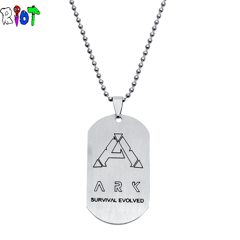 Game Series ARK Survival Evolved Men Stainless Steel Necklace Fashion Jewelry Accessories Choker Pendant Necklace Drop shipping
