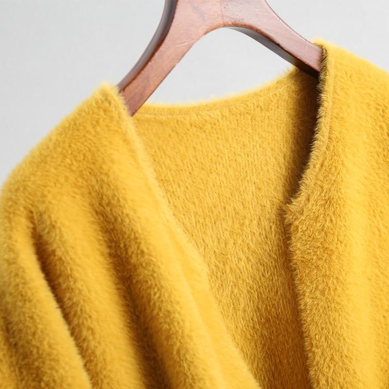 Mode Streetwear Tricoté Brown olive Polaire Chaud Vestes White black À yellow purple camel Pour Hiver Nouvelle Épais Manches Longues Veste Femmes Automne 2018 dCWxBoer