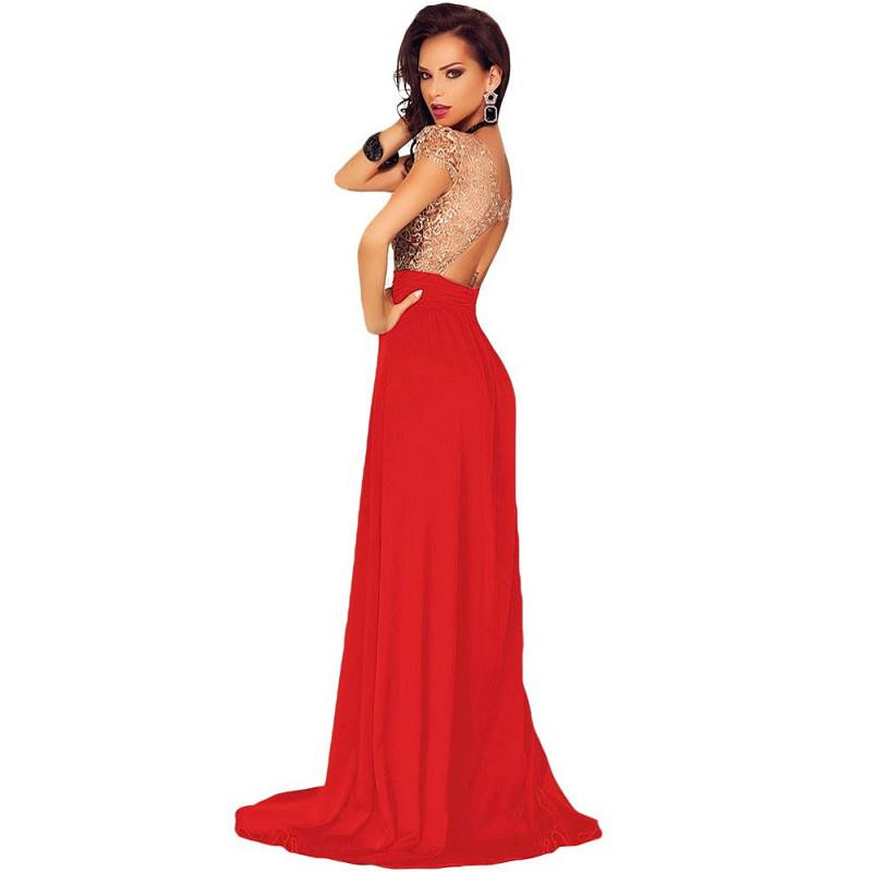 HTB1ycCxOpXXXXczXFXXq6xXFXXXQ - Gold Lace Overlay Slit Maxi Evening Gown JKP008
