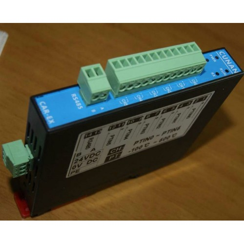 Isolated 6-Channel Pt100 Input Thermocouple Temperature Acquisition Module RS485 Modbus DIN dhl ems ni scxi 1162 assy 182235 01 rev a 32 channel optically isolated digital input c3 d9