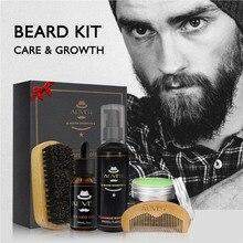 New Mens Beard Oil Kits With Scissor Comb Brush Beard Oil Styling Shaping Mustac