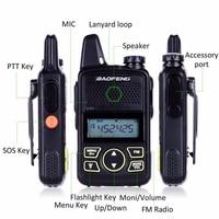 ham cb רדיו 2pcs מיני מכשיר הקשר BF-T1 Baofeng Portable CB Ham Radio VHF UHF ילדים רדיו HF משדר כף יד רדיו FM BF T1 (2)
