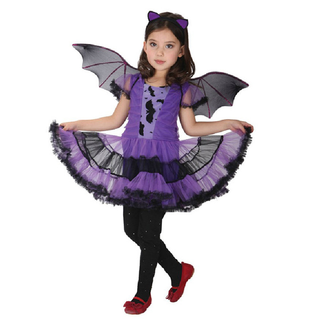 buy free shipping sweet purple vampire cosplay girls halloween costume for kids. Black Bedroom Furniture Sets. Home Design Ideas