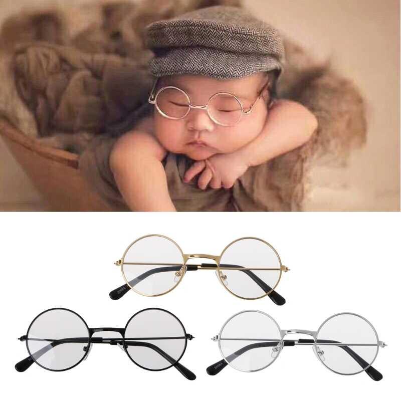 Accesorios de fotografía para bebés recién nacidos gafas planas Estudio de bebé sesión de fotos Prop Photo Accessories-M20