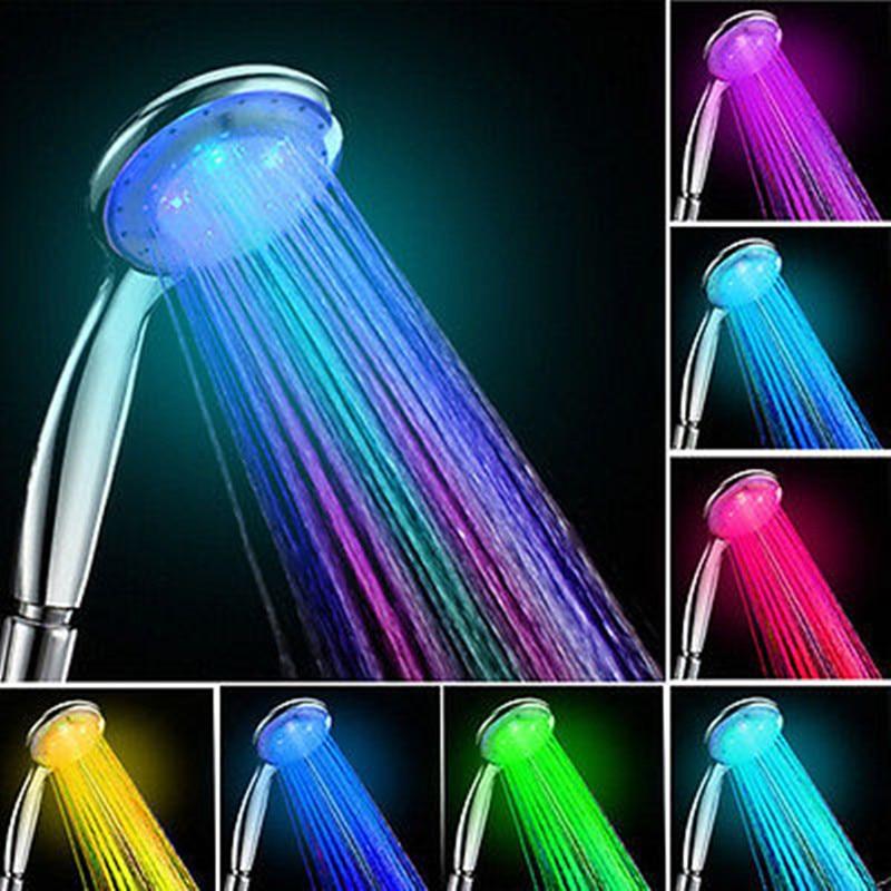 7 Color-Changing LED Handheld Showers Lonic Filter Sprinkler Showerhead Bathroom Water Pipe Bathroom Accessories 1 Pcs
