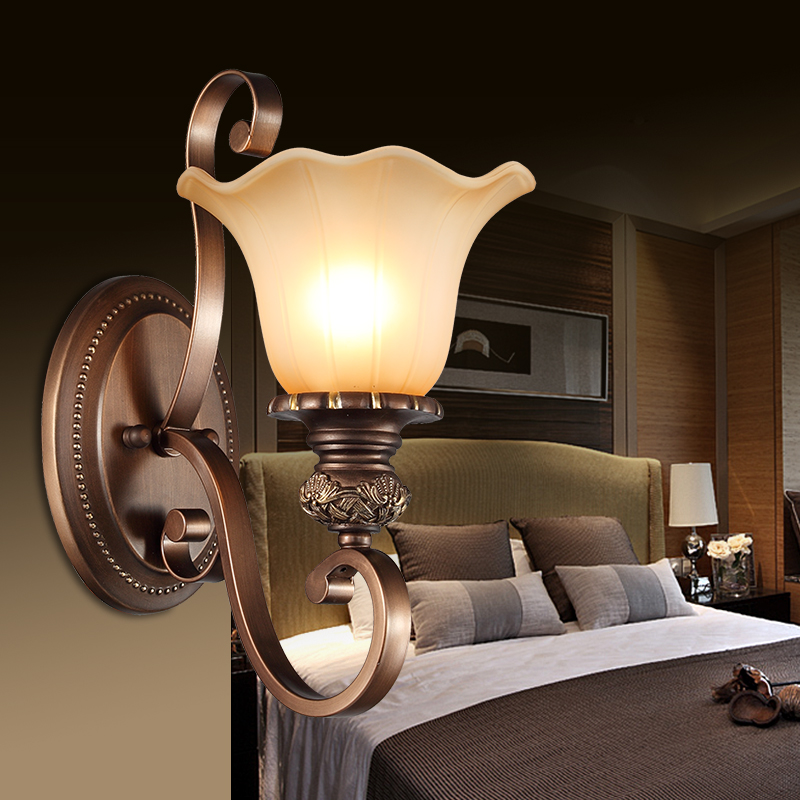 ФОТО New arrival american style wall lamp fashion lamp single-head wall lights vintage iron lamps 089-1w