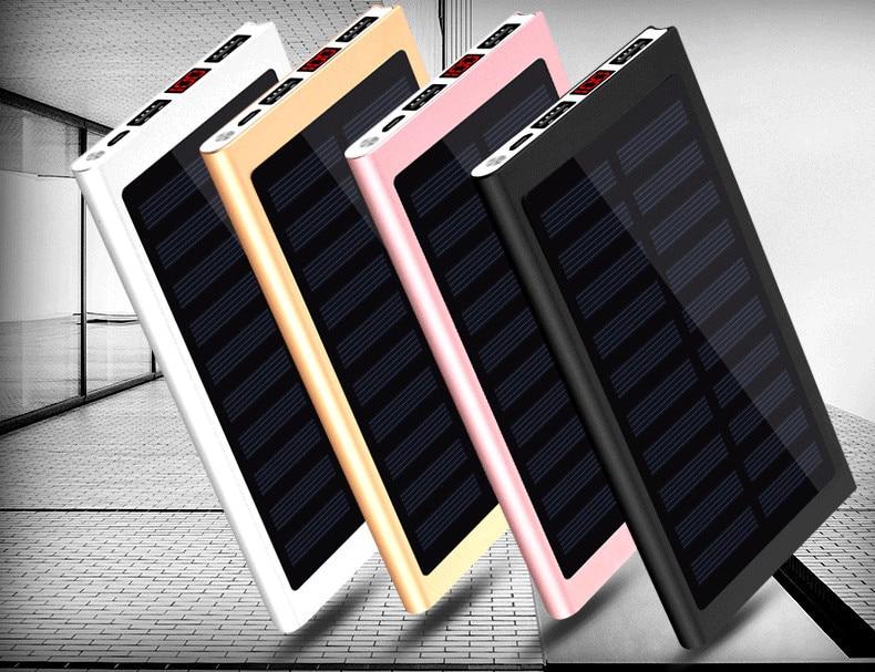 Fast Charge Solar Power Bank 20000mah Powerbank Portable