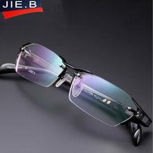 2017 100% Pure Titanium Rimless Eyeglasses Frames Men Myopia Optical Glasses Frame Prescription Eyewears oculos de grau