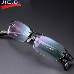 2018 100% чистый титан без оправы для очков для мужчин Близорукость Оптические очки оправа по рецепту очки oculos de grau