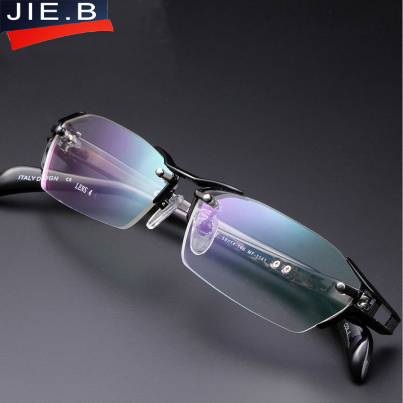 2018 100% Pure Titanium Rimless Eyeglasses Frames Men Myopia Optical Glasses Frame Prescription Eyewears oculos de grau