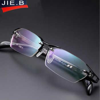 2018 100% Pure Titanium Rimless Eyeglasses Frames Men Myopia Optical Glasses Frame Prescription Eyewears oculos de grau - DISCOUNT ITEM  40% OFF All Category