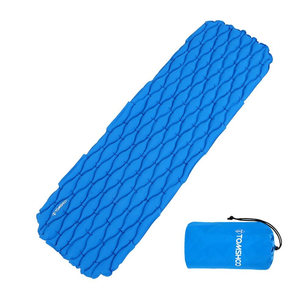 TOMSHOO ultra-léger matelas gonflable matelas extérieur coussin sac de couchage Camping tapis pour randonnée en plein air sac à dos voyage