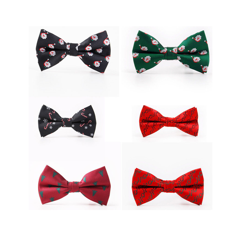 Newly Fashion Formal 6 Style Men Novelty Christmas Bow Tie Festive Party Secret Santa Gift Outfit Formal Occasion One Size