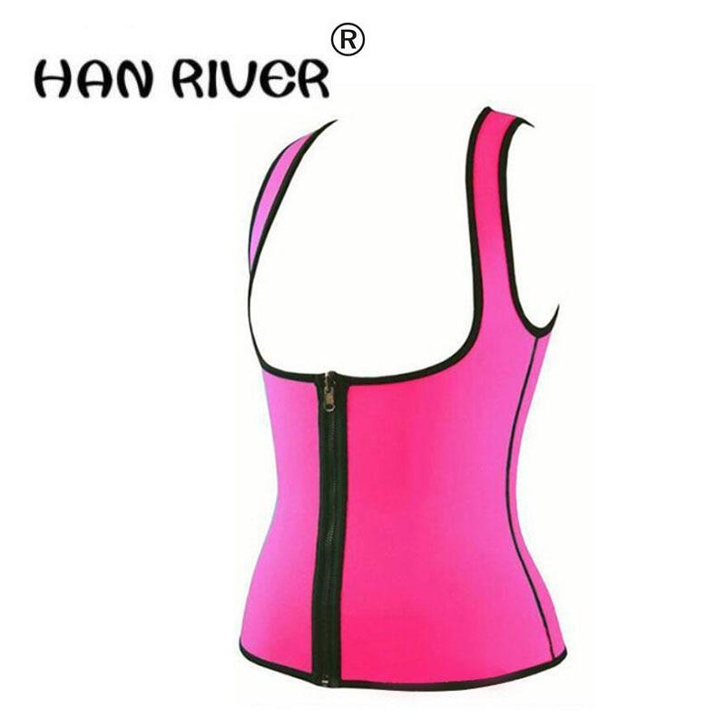 Women Advanced Zipper style sports sweat vest waist body sculpting clothing neoprene rubber abdomen court corset S-XXL hot sales