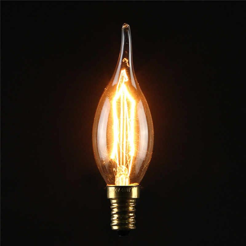 Vintage Edison ampoule lampe à LED E27 E14S 3 W 5 W 40 W rétro Filament de tungstène lumière incandescente décor de noël pendentif éclairage