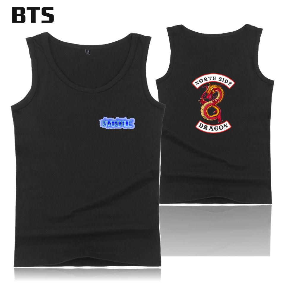 BTS Riverdale Tank Top Summer Sleeveless Casual Tank Top Men/women Fashion High Quality Workout Tank Top Cool Hipster Brand Vest