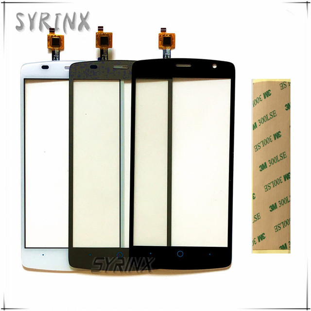 "SYRINX 5.0"" Touchscreen For ZTE Blade L5 Plus Touch Screen Digitizer Front Glass For ZTE Blade L5 Plus Touch Panel + Tape"