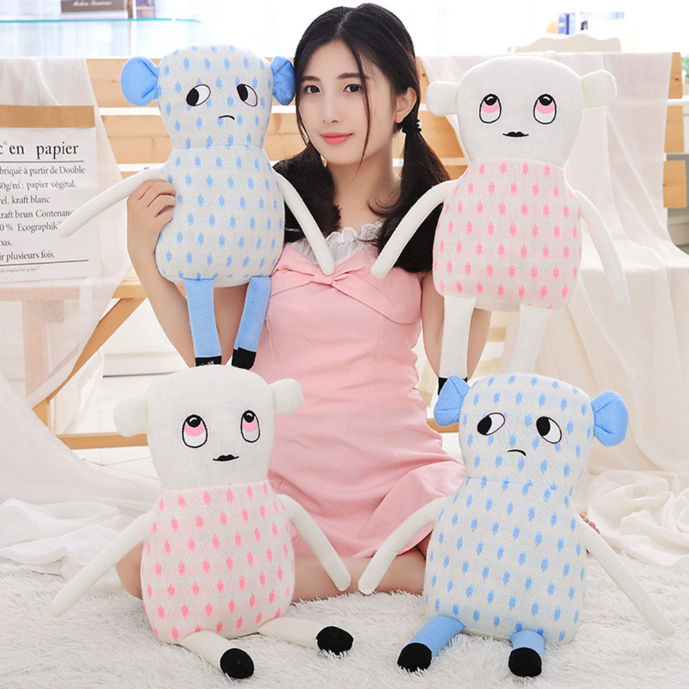 48 cm INS Hot Baby Doll Plush Toy Cushion & Pillow Stuffed Bebe Toys for Children New Born Baby Bed Toy Gift Bedroom Decoration