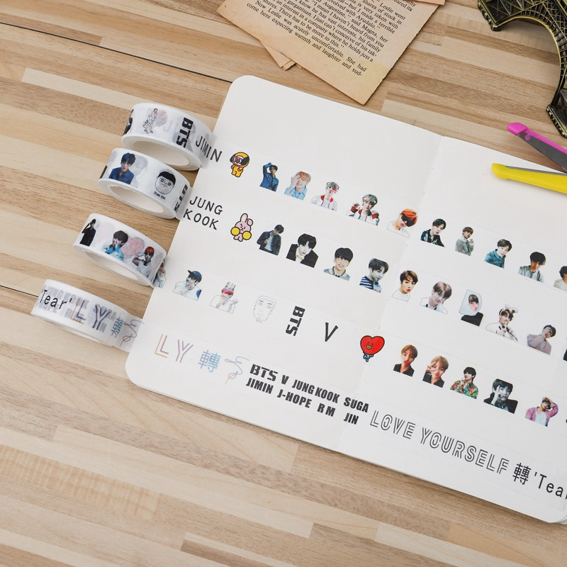 100% True Answer Love Yourself Bts Adhesive Tape Scrapbooking Sticker Bt21 Paper Masking 2019 Newest Mother & Kids Accessories