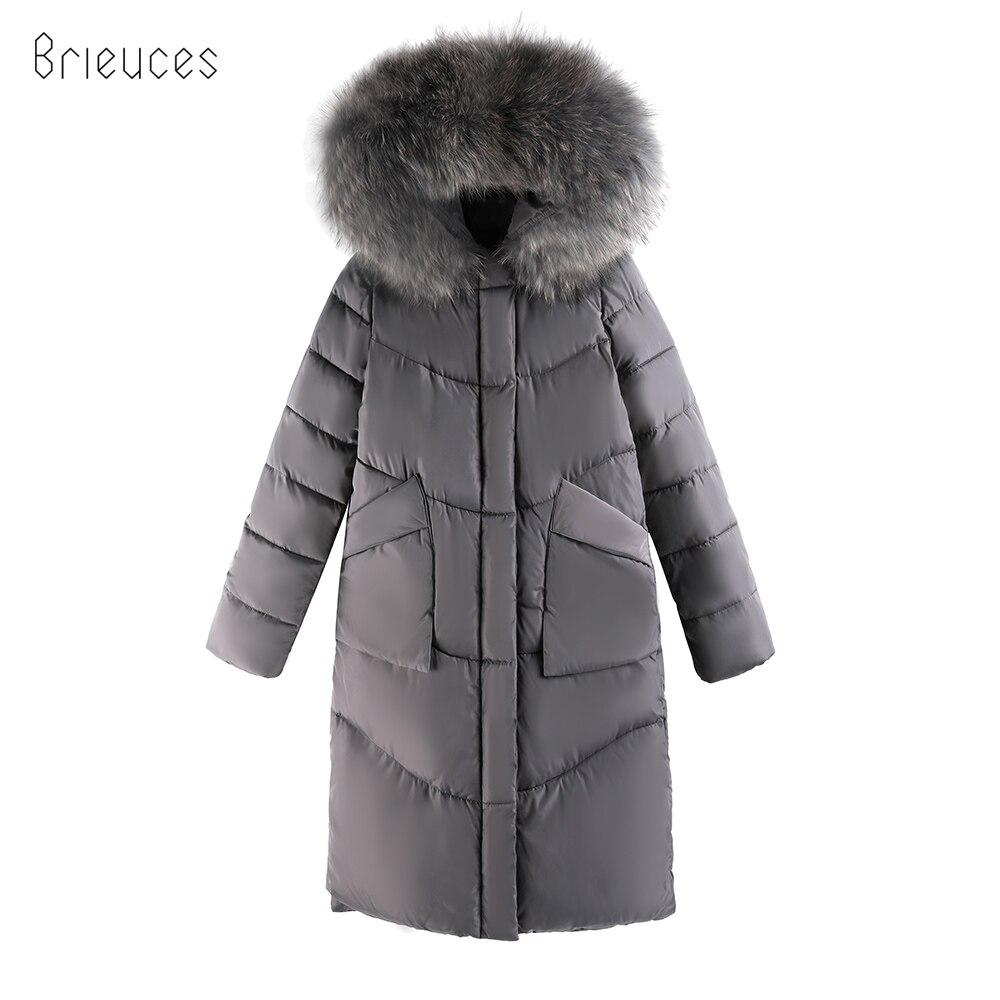 Brieuces New warm Autumn Winter jacket women 2018 Adjustable Waist Women coat thick hoody winter parkas