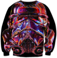 Trooper Looper Crewneck Sweatshirts Star Wars Stormtrooper Outfits Women Men 3D print Tops Jumper Plus Size S-XXXL