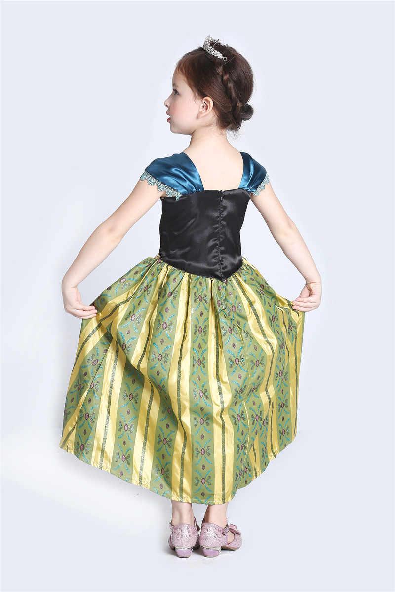 Đầm bé gái Hoạt Hình Nữ Hoàng Tuyết Đầm Công Chúa Elsa Áo Anna Trang Phục Cho Bé Trẻ Em Quần Áo Trẻ Em Halloween 3-12Y