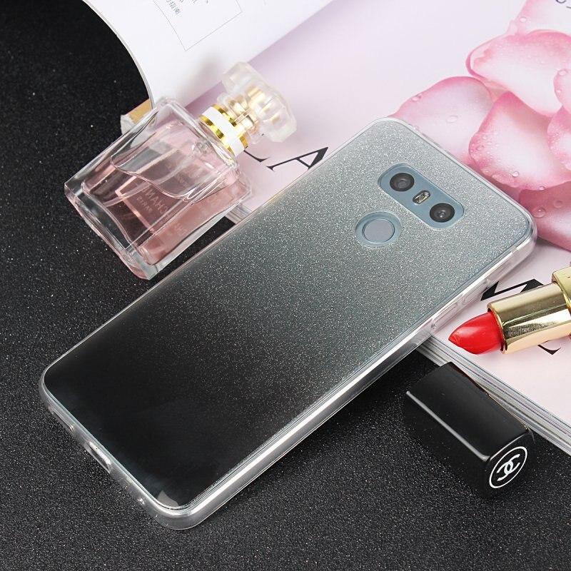 Мобильный чехол для <font><b>LG</b></font> <font><b>G6</b></font> H870 H870DS G 6 крышка ультра тонкий силиконовый блеск блестящий Blingbling ТПУ спина кожи гель телефон сумка ETUI COQUE