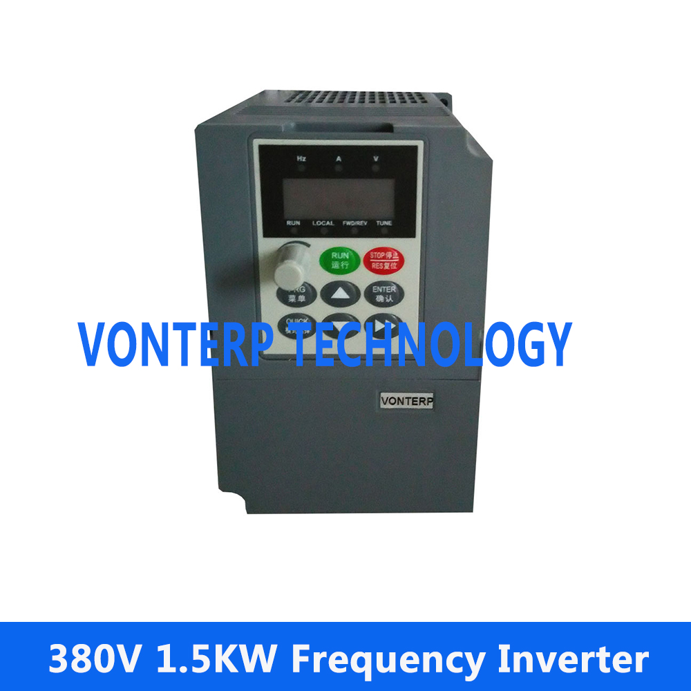 цена на 380v 1.5kw VFD Variable Frequency Drive /AC MOTOR SPEED CONTROLLER Rated frequency 50HZ/60HZ
