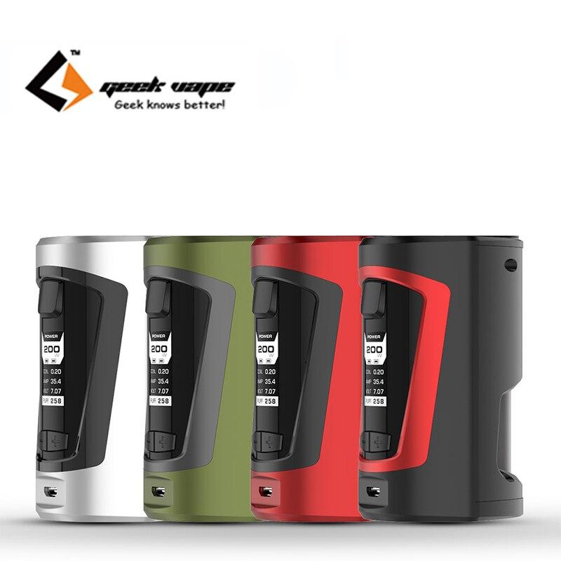 D'origine Geekvape Squonker boîte mod Geekvape GBOX Squonker boîte mod 200 w Alimenté par double 18650 batteries avec 8 ml squonk bouteille