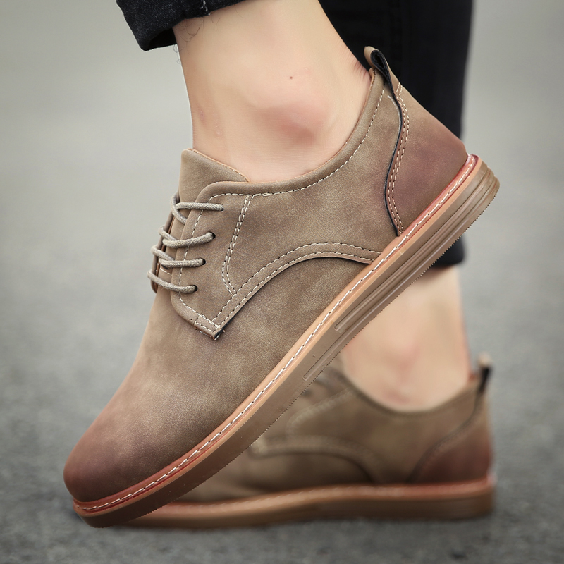 fashion leather casual shoes men comfortable leisure moccasins cheap dress male footwear work elegant boy oxford shoes for m (24)