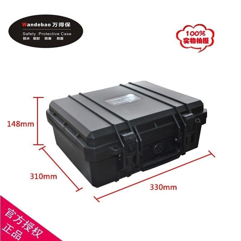 ABS Gereedschapskoffer gereedschapskist Slagvast afgedichte waterdichte veiligheidskoffer apparatuur cameratas met voorgesneden schuim 310 * 248 * 130 MM