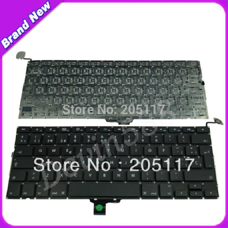 Hot Selling Keyboard For Macbook Pro A1278 Spanish keyboard MB990 MB991 2009 2010 2011 Brand New