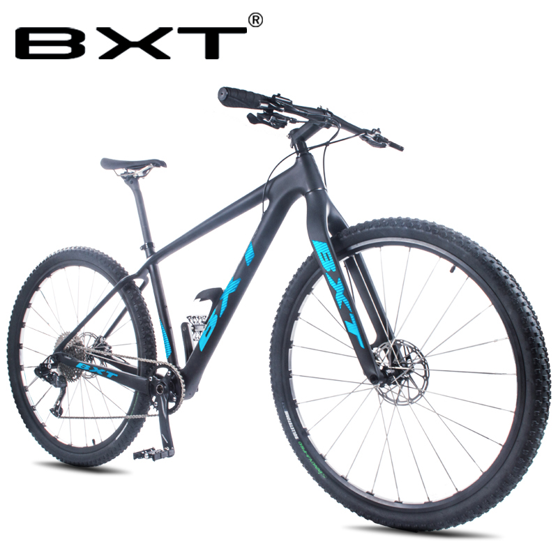 BXT T800 Full Carbon Fiber Mountain Bike Disc Brake 29er MTB Bike Frame 1*11 Speed Complete Bike Complete Bicycle 2.1