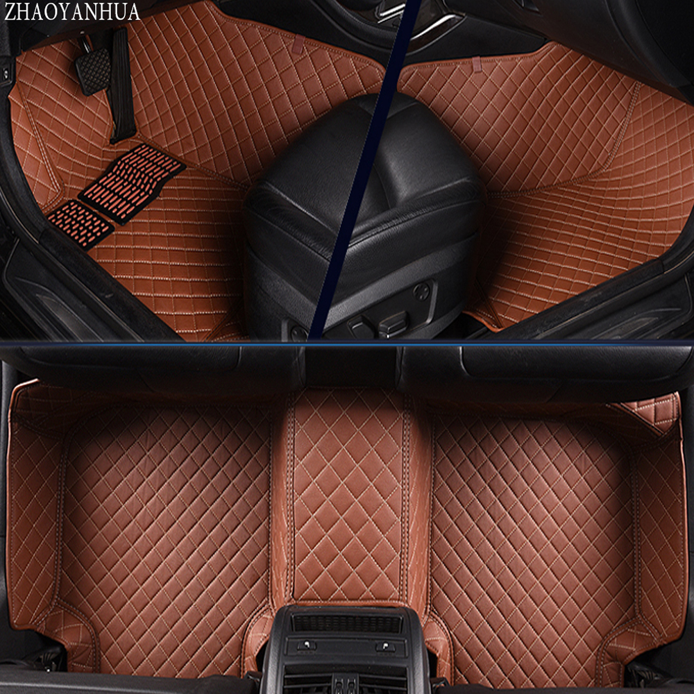 ZHAOYANHUA Car floor mats for BMW 7 series F01 F02 730i 740i 750i 760i 730d 740d 750d 730Li 740Li 750Li 760Li 5D carpet liners