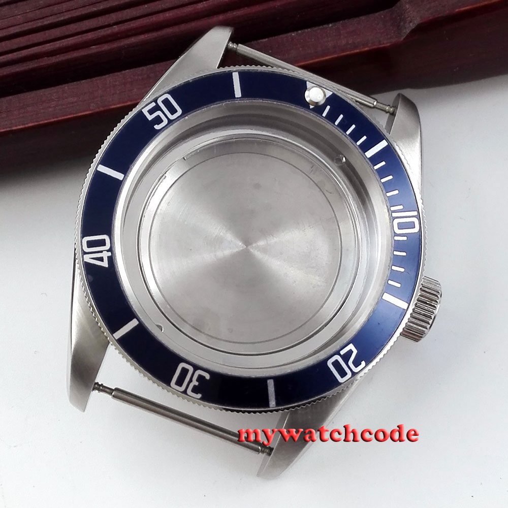 41mm blue insert sapphire cystal Watch Case fit ETA 2824 2836 MOVEMENT C41B цена и фото