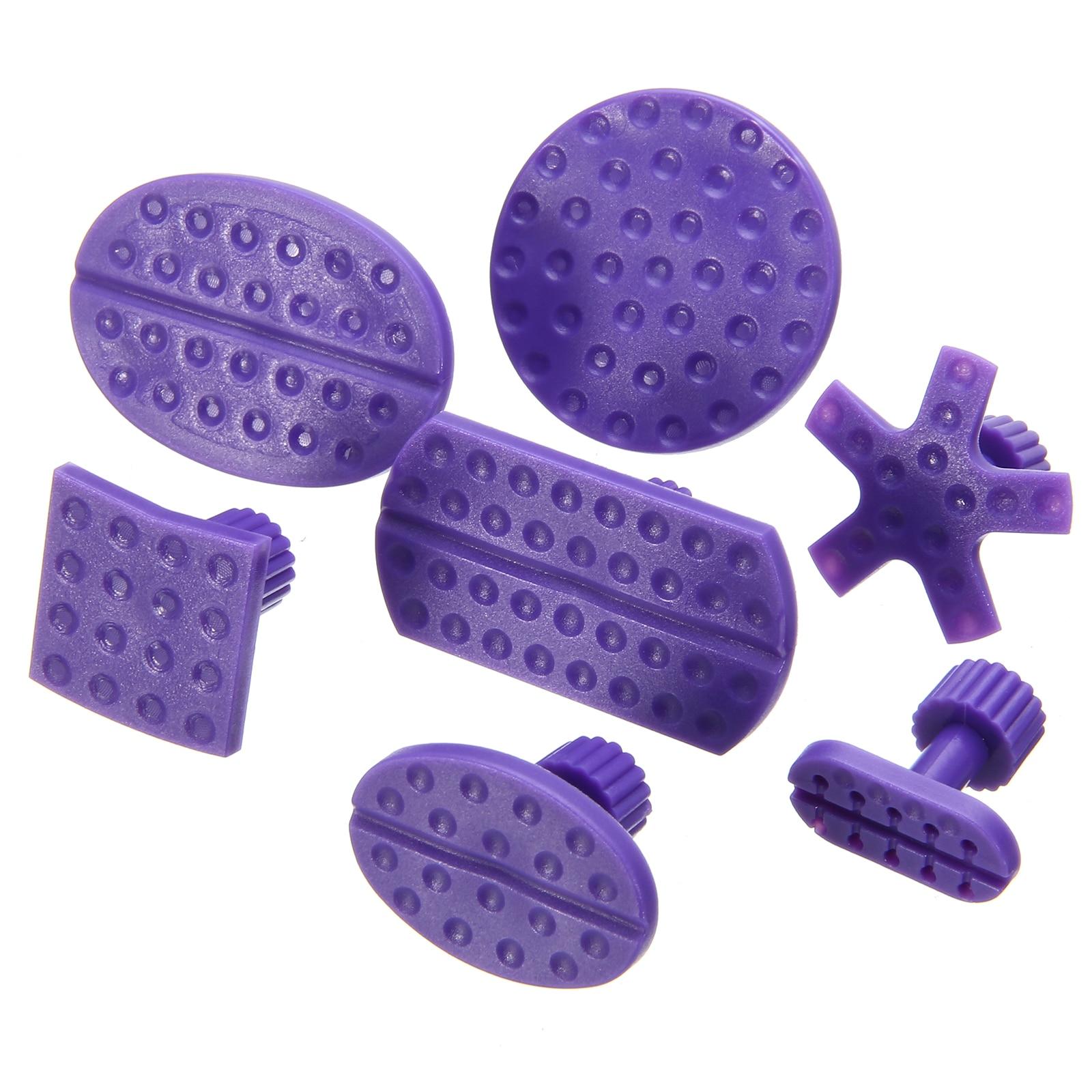 24Pcs Purple Car Body Paintless Dent Hail Repair Tool Plastic Glue Puller Tabs Pad Automobile Repair Tools Set