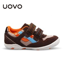 Uovo Brand Kids Sneakers Spring Autumn Zapatillas Deportivas Nina Suede Leather And Oxford Clothes Boys Sport Shoes EU29-36