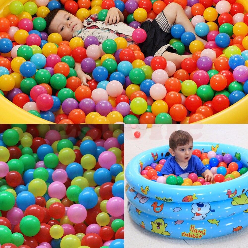 50 PCS en plastique souple océan balle bébé enfant jouet piscine I