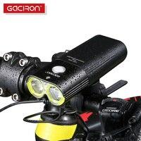 GACIRON Professional Bicycle Light Power Bank Waterproof USB Rechargeable Bike Light Side Warning Flashlight 1600 Lumen