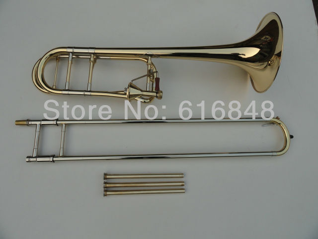 High Level Tenor Trombone Gold Plated Tapered Trombone Edward 42 B Flat Drawn Tubes Musical Instruments Trombone marcinkiewicz proline contrabass trombone mouthpiece 106