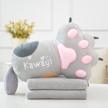 lovely cat claw cute plush toys pillow sleeping sofa blanket creative gift for girls