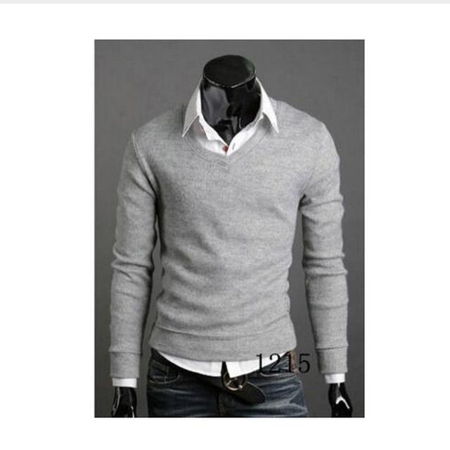 Christmas Jumper Casual Knitted V Neck Pullover Sweaters  3