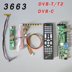 DS. d3663LUA. a81.2.PA V56 V59 evrensel LCD sürücü panosu desteği DVB-T2 TV kurulu + 7 anahtar Switch + IR + 1 lamba invertör + LVDS 3663
