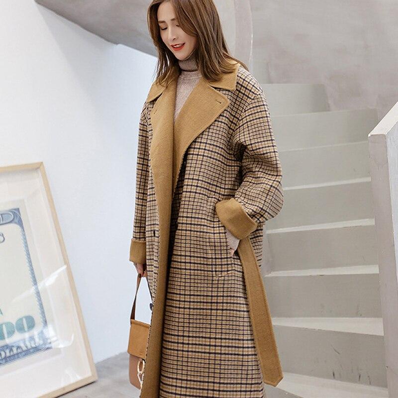 Long Sleeve Winter Wool Coat Women Europe Style Large Size Casaco Feminino Ladies Autumn New Slim