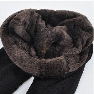 Image 2 - Chrleisure feminino quente veludo leggings outono inverno tamanho grande doces cores grosso falso malha engrossar fino estiramento legging