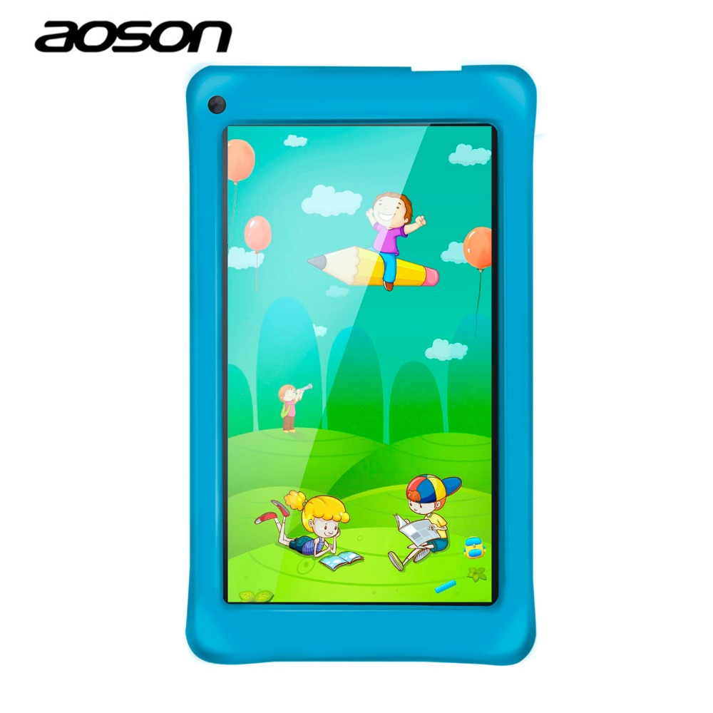 Aoson M751 7 inch Kids Tablets PC 8GB+1GB Android 5.1 Quad Core IPS Screen Dual Camera WIFI BluetoothEducation Tablet Best gift aoson m751 7 inch kids tablets pc 8gb 1gb android 5 1 quad core ips screen dual camera wifi bluetootheducation tablet best gift