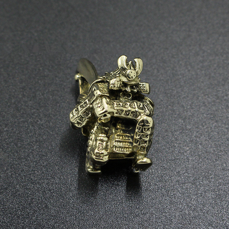 Brass Brave Fighter Bracers Armor Pendant DIY Bracelet Flashlight EDC Paracord Beads