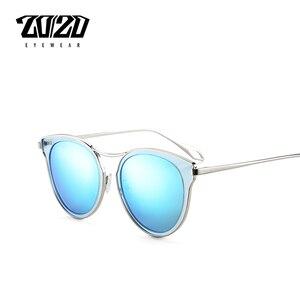 Image 1 - 20/20 ファッション偏光サングラスの女性スタイル金属フレーム有名な女性のブランドのデザイナー oculos feminino P0877
