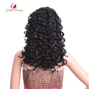 Image 4 - Perruque Lace Front Wig bouclée noire Golden Beauty